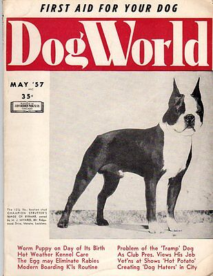 Dog World Magazine May 1957, Boston Terrier Cover, History
