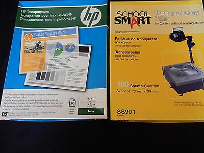 Transparency Film HP Laser  School Smart for Copiers Open Boxes 45+ in Each Box