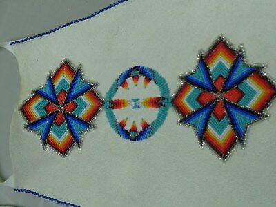 Mohawk-made beaded purse, pow wow regalia or keepsakes bag, from about 2005