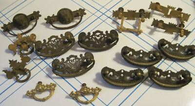 Antique Drawer Pulls Handle Lot 16 Pcs 1878 Pharaoh East Lake Castle Rope Brass