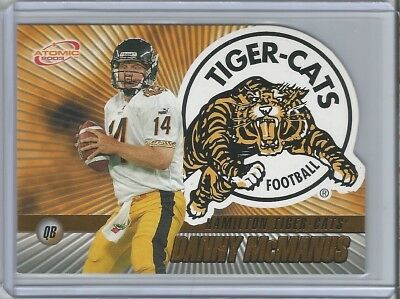 Tiger-Cats 2003 Pacific Atomic Gold CFL Danny McManus #123/175 - Hall of Fame
