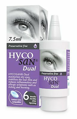 Hycosan Dual Allergy Related Dry Eye preservative-free sodium hyaluronate Scope
