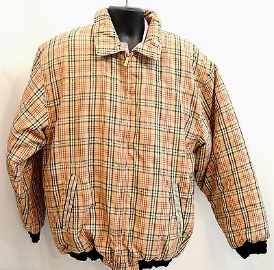 Veezo Wear mens winter jacket full zip puffer coat British plaid top size XL NEW