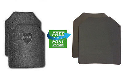 Body Armor | AR500 Steel Plates | Base Frag Coating | Level 3 III 10x12- PAIR