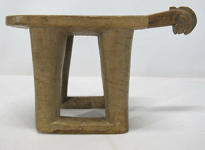 Antique Mossi African Tribal Figural Carved Wood Womans Stool Burkina Faso 4 yqz