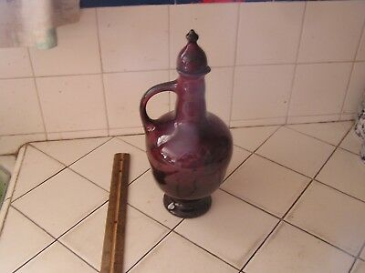 Antique Beautiful Gouda Pottery Pitcher