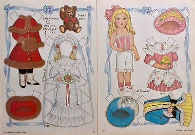 Bru Antique Doll Magazine Paper Doll,1985, By Lorraine Morris
