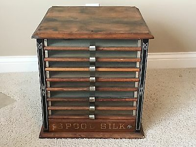 Antique Heminway Silk Thread Cabinet with 9 Drawers
