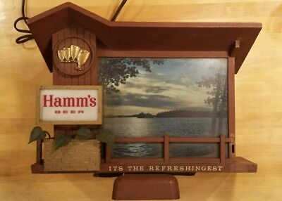Hamm's Beer Dusk To Dawn/Sunrise Sunset Light-up Motion Sign
