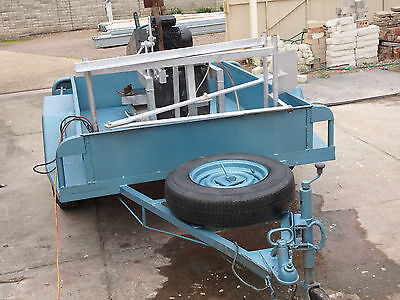 Heavy duty trailer mounted Wet  brick saw Portable Electric