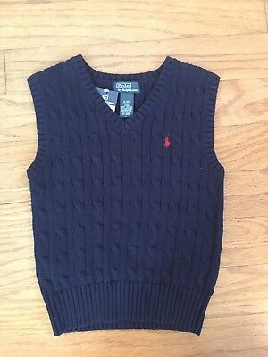 Polo By Ralph Lauren Boy's Navy Blue Vest Brand NEW W TAGS 4T retail $39+