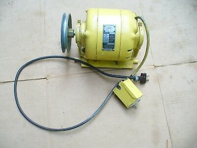 GE 1/4 HP Electric Motor, 115 Volts, 5 Amps, 1450/1750 RPM, Switch & Pulley
