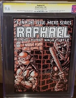 RAPHAEL #1 CGC 9.6 SS Kevin Eastman 1st appearance of Casey Jones TMNT