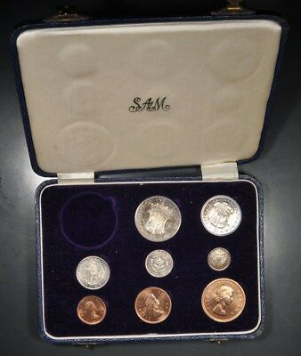 1955 South Africa 8-Coin Partial Proof Set In Original Box
