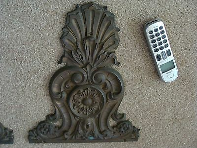 Antique BRONZE Metal Wall Furniture Plaque Garden Fountain~Architectural French