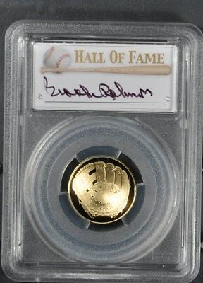 2014-W Pcgs Pr70Dcam Baseball Hall Of Fame G$5 Brooks Robinson 1 Of16 Gold Glove