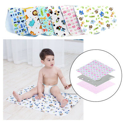 Waterproof Changing Diaper Pad Cotton Washable Infant Babies Urine Mat Nappy
