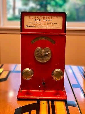 Advance Electric Shock Machine * Coin Op Penny Arcade * Carnival Shocker * Video