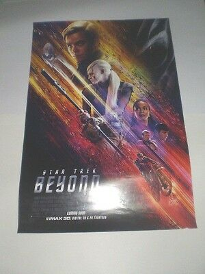 Star Trek Beyond Movie Poster Original 2016 27x40 Theater Ds Sided Pine Promo