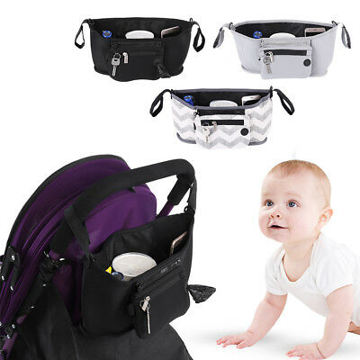 Universal Baby Trolley Storage Carriage Bag Stroller Buggy Pushchair Organizer