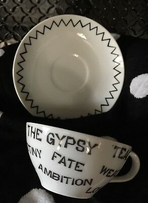 1959 Vintage Gypsy Fortune Telling Cup And Saucer Set - Originality Plus!