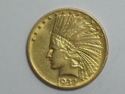 1932 Us $10 Gold Eagle - Indian Head 10 Dollar Coin