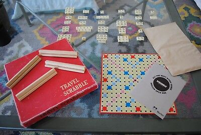 Vintage Travel Scrabble / 100% complete, incl. rule book / Murfett brand