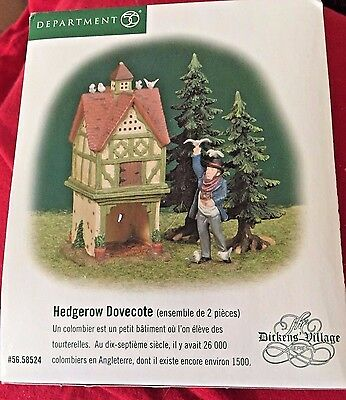 Hedgerow Dovecoat Dept 56 Dickens Village 58524 retired Christmas complete snow
