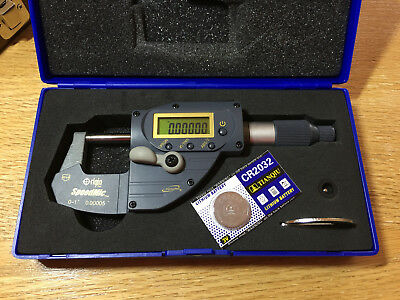 "0-1"" Digital Micrometer Absolute with .00005"" accuracy.  iGAGING Speedmic"