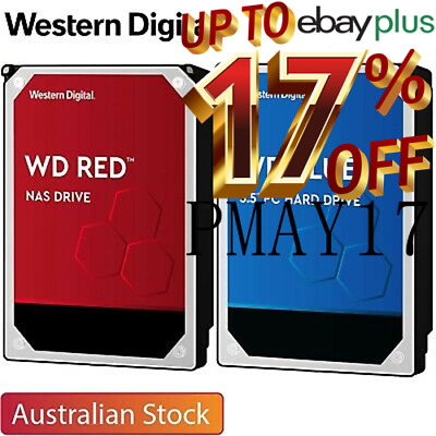 Western Digital WD BLUE RED 1TB 2TB 3TB 4TB 6TB 8TB 10TB Internal Hard Drive