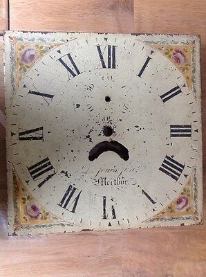 "Antique Grandfather Clock Dial Unrestored Uncleaned 12""X12"""