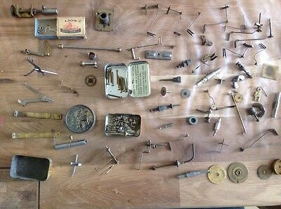 Antique Clock Spare Parts Escapes Screws Cogs