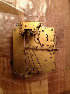 Vintage Clock Movement five Chime With Hands Untested For Repair