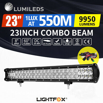 LGHTFOX 23inch Philips LED Light Bar Spot Flood Combo Driving Lamp Offroad 4x4