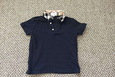 BURBERRY CHILDREN Toddler Boy's navy blue polo shirt top 6Y
