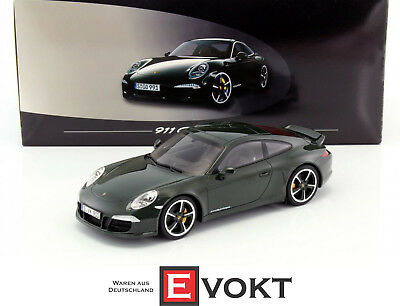 GT Spirit Porsche 911 (991) Carrera Club Coupe 2014 Green Model Car 1:18 New