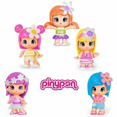 Set 5 Personaggi Profumati Pinypon Famosa Con Accessori E 5 Tattoo Fiori Inclusi