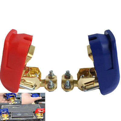 One Pair Car Caravan Boat Quick Release Battery Connector Terminal Clamps Power