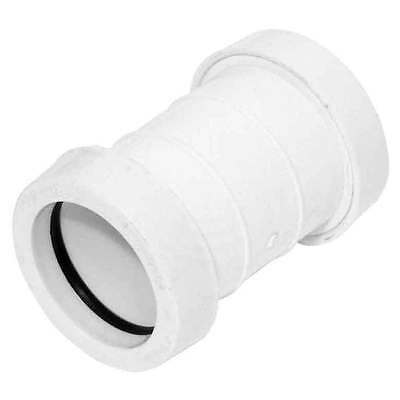 Push-Fit White Waste System 32mm Straight Coupling WPSC32W