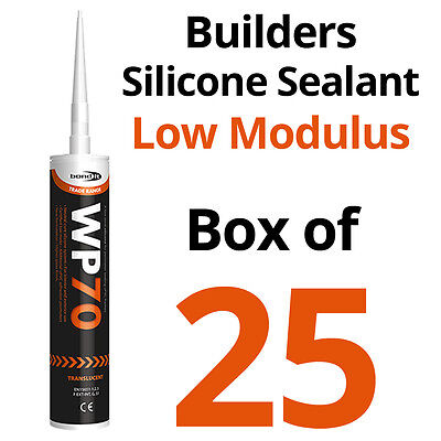 Building Silicone Sealant WP70 Clear Translucent uPVC/Wood/Door/Window Box of 25