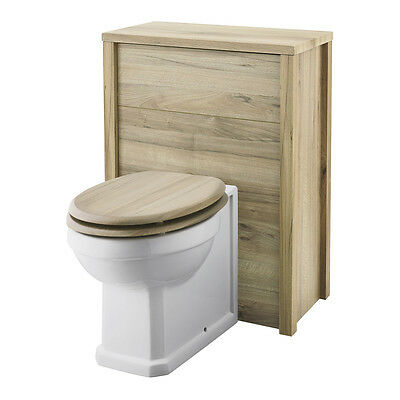 Old London Natural Walnut Back To Wall 600mm WC Toilet Unit NLV543
