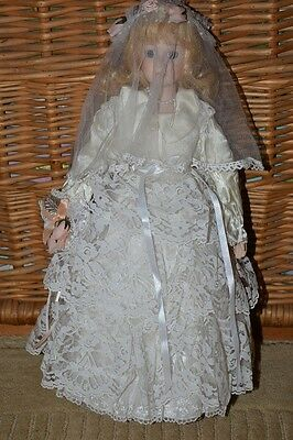 Wedding Bridal Porcelain Doll 40cm tall Collectable from the UK