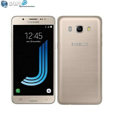 Neuf Samsung Galaxy J5 J510Fd 16Gb Dual Sim 2016 Version Désimlocké Or Gold