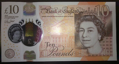 GREAT BRITAIN UK ENGLAND 10 POUNDS 2017 P-NEW UNC QE II and AUSTEN POLYMER