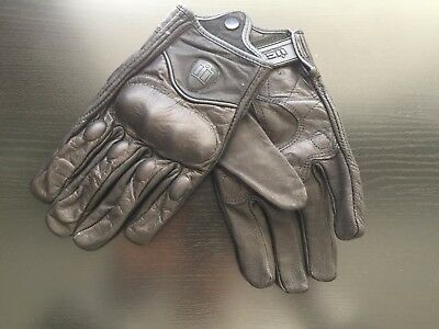 Brand New Icon Pursuit Leather Motorcycle Gloves Size Medium SYDNEY STOCK!