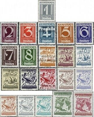 Austria 447-467 (complete issue) used 1925 clear brands