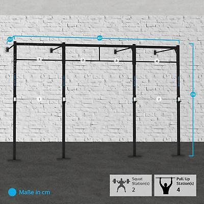 Capital Sports Fitness 407X150Cm Training Kraft Aufbau Squat Rack Klimmzugstange
