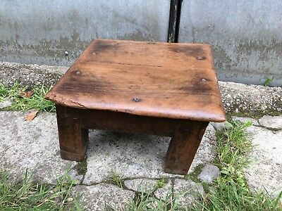Vintage Antique Primitive Stool Step Display