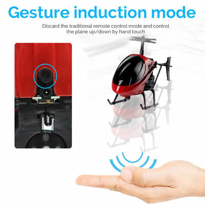 AU!Smart Auto Balance Helicopter Aircraft Mini Drone Flying Infrared Induction