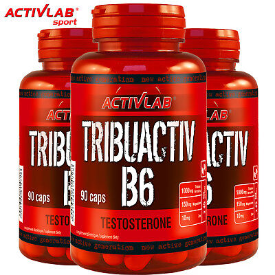 TRIBUACTIV B6 90/180 Caps. TRIBULUS ZMA TESTOSTERONE BOOSTER LIBIDO RECOVERY